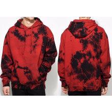 Men′s Crystal Red Dye Fashion Hoodie
