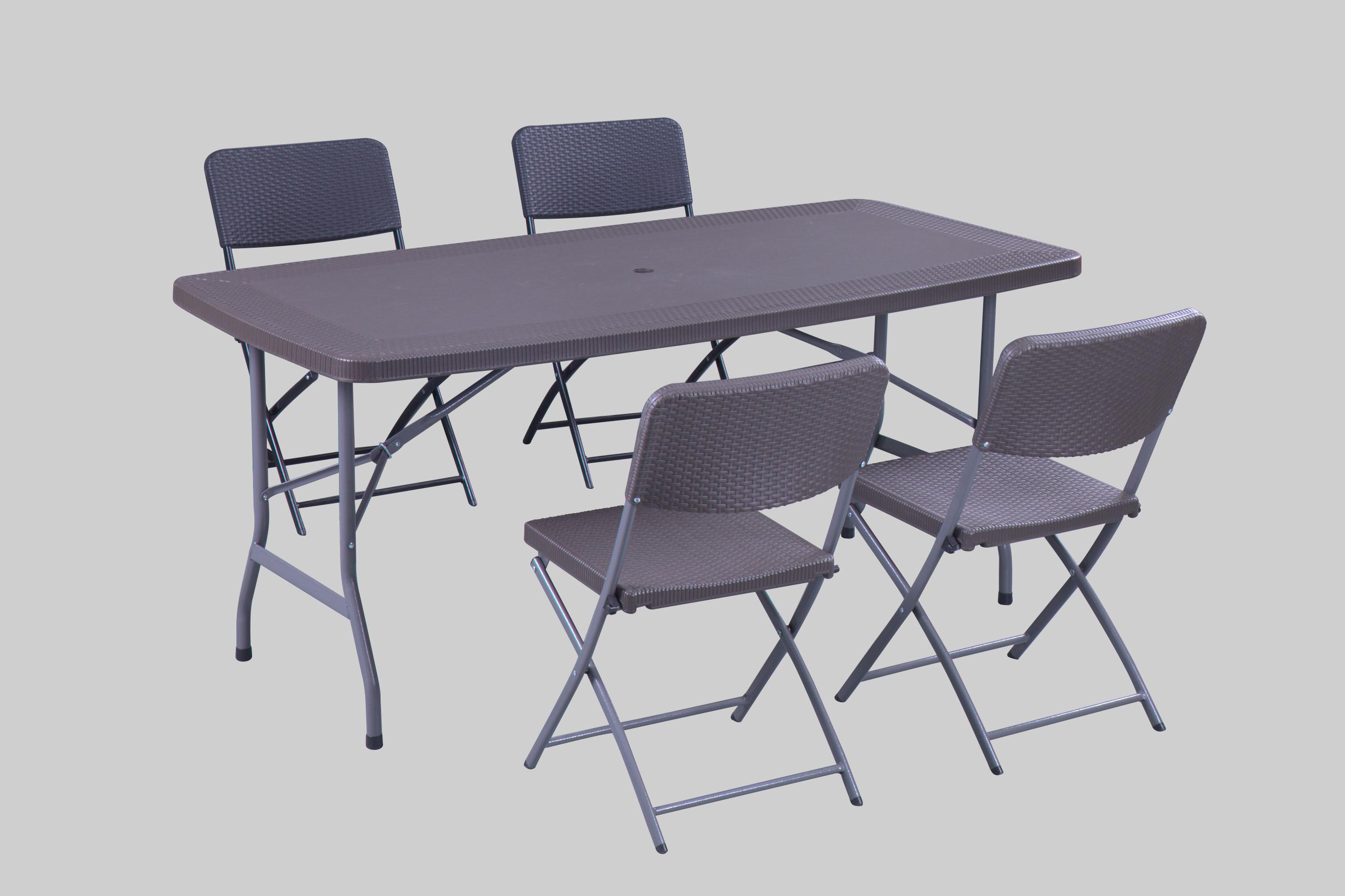 New Rattan Table USE Umbrella