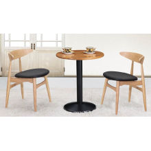 Coffee Shop Wholesale Round Table and Oxhorn Chair (FOH-BCA15)