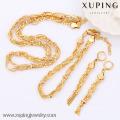 63604-золото Xuping ювелирных изделий устанавливает ,мода комплект ювелирных изделий латуни с 18k позолоченный