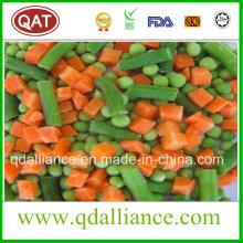 IQF Hortalizas mezcladas congeladas con guisantes, zanahoria de maíz, frijoles cortados