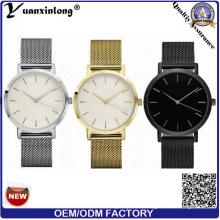 Yxl-177 Heißer Verkauf Förderung Mesh Strap Band Uhr Edelstahl Quarz Vergoldet Vogue Luxus Männer Frauen Uhr