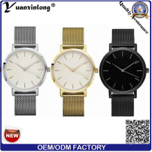 Yxl-177 Hot Sale Promotion Mesh Strap Banda de reloj de acero inoxidable de cuarzo chapado en oro Vogue Luxury Men Women Watch
