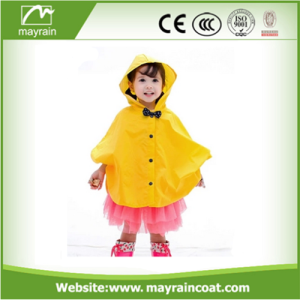 Durable Polyester Children Kids Rain Poncho Raincoat