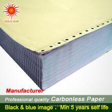 Impressão duplicada do livro de fatura duplicada sem carbono personalizada ncr