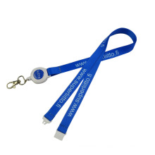 Wholesale sublimation cell phone retractable tool lanyard with Safety clip