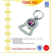 Porte-clé en métal avec ouvre-bouteille avec logo de bande dessinée