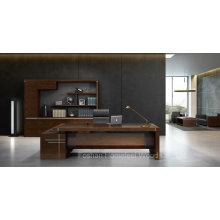 Bureau moderne de bureau de table en bois rectangulaire de meubles de bureau de forme de L (HF-01D28)