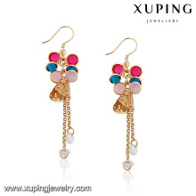 92145 Xuping Jewelry boucles d'oreilles en plaqué or design coloré