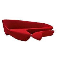 Lussuoso mobilio domestico divano a forma di luna