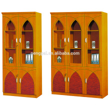 customized exotic style engrain office file cabinet with glass