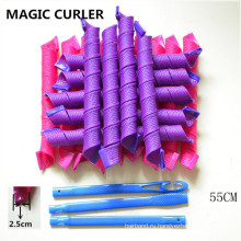 18PC / 55cm Новый стиль волос Magic спиральные Curlformers (HEAD-69)