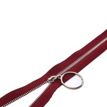 Colouful metal zipper for commodity