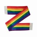 Bufanda de poliéster personalizada con estampado de arcoíris LGBT