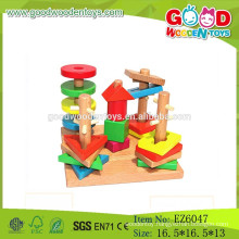 Hot Sale Wooden Geometric block Set,Sorting Board Toy,Kids Wooden Shape Block