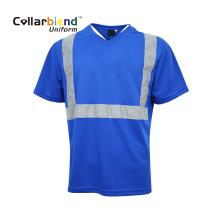 Camisa polo de manga curta reflexiva de segurança para estradas