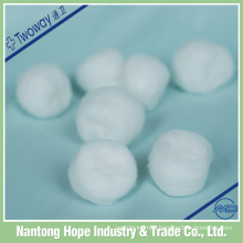 100% cotton sterile or non-sterile disposable cotton ball ,good absorbent,