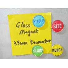 Diameter 35mm Glass Magnet