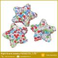 Multi size mixed AAA CZ Stone Color Star shamballa jewelry beads
