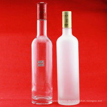 Hersteller 750ml 1000ml 1750ml Glasflaschen Luxus Wodka Flasche Super Flint Glas Weinflaschen