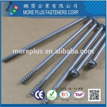 Fabriqué à Taiwan Tête de rondelle en acier au carbone en acier Geomet 321 Silver Torx10 PT Screw