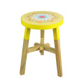 Yellow color  India and Pakistan printing design stool