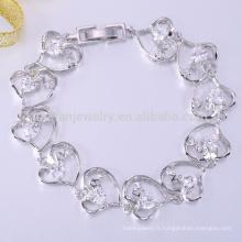 Ensemble de bijoux de mariée bracelet diffuseur bracelet zircone cubique