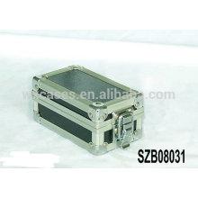Novo projeto alumínio relógio caixas de armazenamento para 2 relógios fabricante