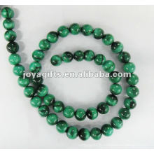 Perles rondes de malachite de 8 mm, de haute qualité.