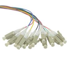 12 noyaux LC Multimode mm 62.5 / 125 Fibre optique Câble de sortie du ventilateur Pigtail