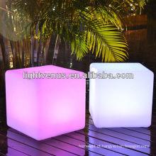 Venda material da mobília do cubo do diodo emissor de luz da cor do PE de 40cm