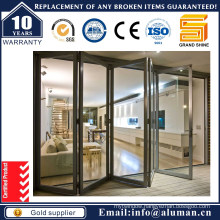 2016 New Design Strong Aluminum Double Glazing Bi- Folding Door