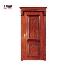Portes d'entrée en bois massif en bois massif, design Amérique du chêne rouge