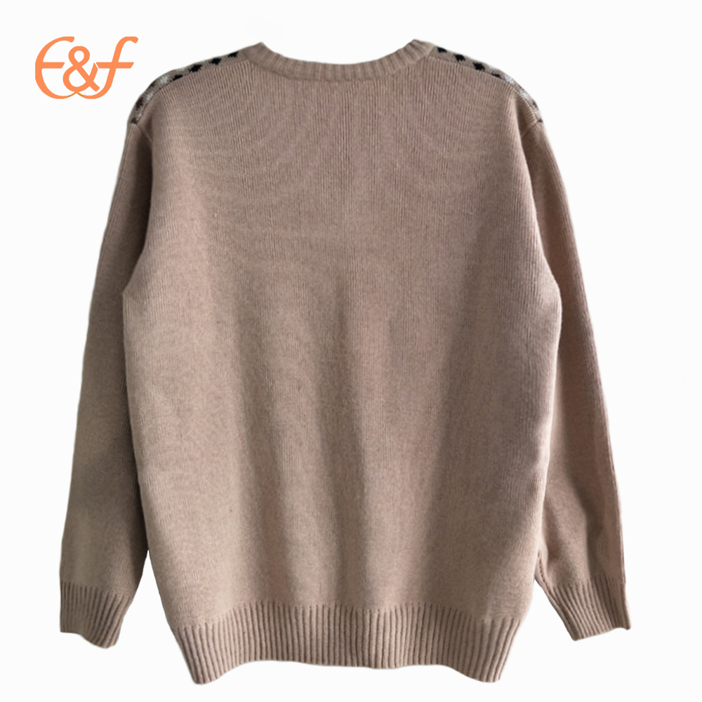 Fashion Knitted Men's Jacquard Sweater