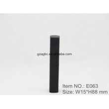 Delgado e elegante batom caneta de alumínio em forma de tubo E063, copo tamanho 8,5 mm, cor personalizada