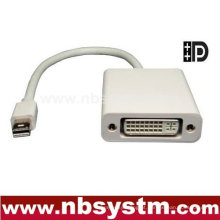 Mini DP para DVI Adaptador de cabo 15cm wIC (macho DP para DVI fêmea)