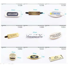 Private Custom Garment Brand Metal Tag with Engraved Brand Logo
