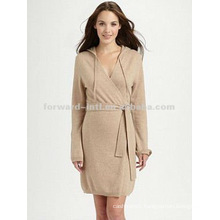 fashion 100% pure cashmere robe