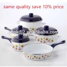 Reasonable price top quality factory sale large pot enamelware 7pcs enamel set