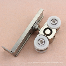 Slience 120 Kg que lleva la puerta de madera Sliding Hanger Wheels roller