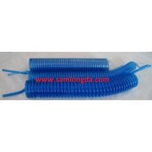 Tube en polyuréthane bleu transparent / Tube en bobine PU / Tuyau en spirale PU