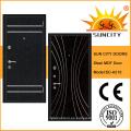 MDF Panel Inside Steel Puerta blindada de madera para exteriores (SC-A210)