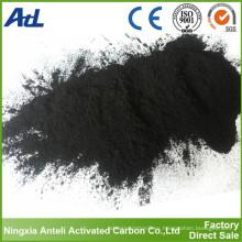 Carbon vegetal en polvo (grado alimentario) carbón activado de bambú