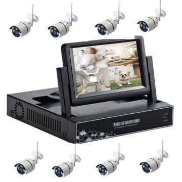 cctv 8CH HD camera monitor nvr kit wireless wifi camera kit