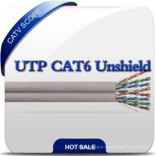 No Cross UTP CAT6 Câble de réseau LAN 23AWG à câble 4pair