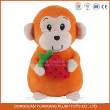 Chinese new year 2016 plush toy monkey with strawberry