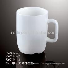 185 ml Keramikbecher kann mit Logo bedruckt werden