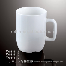 100 ML white ceramic mug wholesale