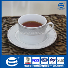Porcelana cerâmica de chá ware, ouro decorado porcelana chá xícara e pires