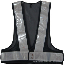 100% Polyester Mesh Safety Vest with Crystal Tape